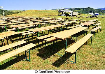 music festival tables