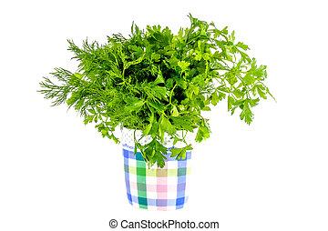 green parsley and dill seasoning