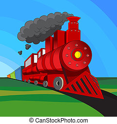 Locomotive Train - An image of a coal engine locomotive...