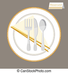 Reserved Table Setting - An image of a reserved table...
