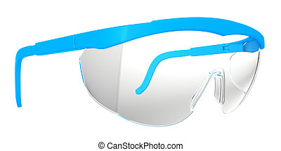 Safety Glasses. isolated on white background
