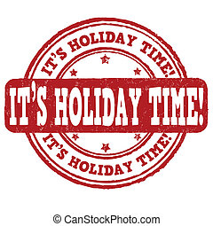 It's holiday time  stamp