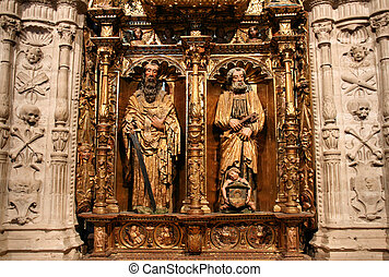 Saint Paul and Saint Peter in Palencia cathedral, Spain
