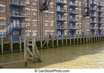 Docklands - Historic old warehouse now converted into homes...