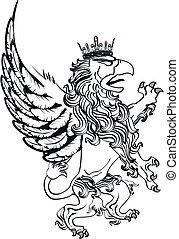 gryphon tattoo isolated1 - gryphon tattoo isolated in vector...