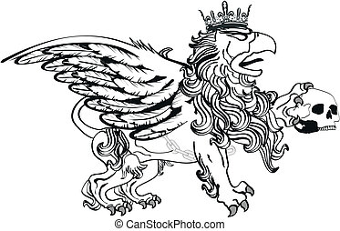gryphon tattoo isolated2 - gryphon tattoo isolated in vector...