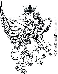 gryphon tattoo isolated6 - gryphon tattoo isolated in vector...