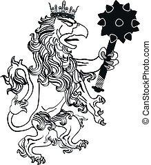 gryphon tattoo isolated7 - gryphon tattoo isolated in vector...