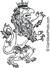 gryphon tattoo isolated8 - gryphon tattoo isolated in vector...