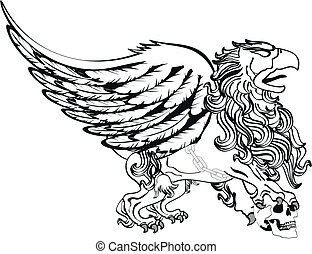 gryphon tattoo isolated9 - gryphon tattoo isolated in vector...