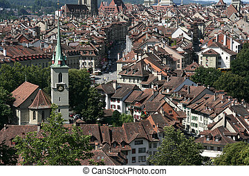 Bern, Switzerland - Cityscape of Berne, Switzerland. Famous...
