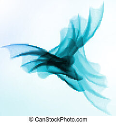 Abstract blue, wave background
