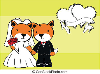 fox married cartoon background - lion married cartoon...