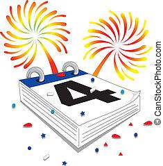 Fourth of July calendar