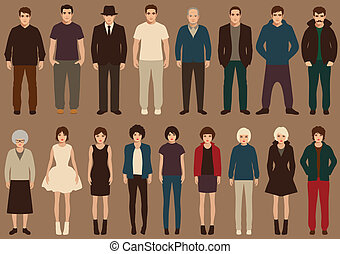 people characters - fashion vector collection of people,...
