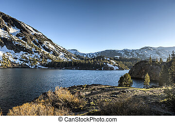 Inyo National Forest - Ellery Lake - Yosemite National Park,...