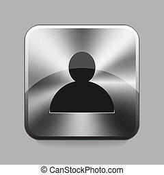 Chrome button - Silhouette chrome button or icon vector...
