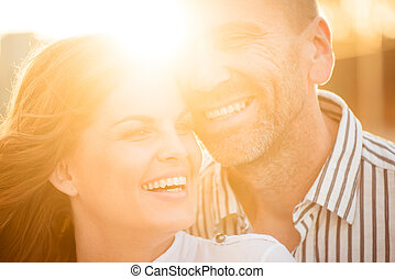 Happy together - couple in love - Happy couple having great...