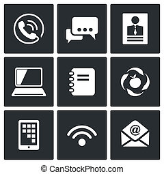 Vector Communication icons set - Communication icon...