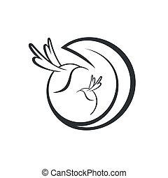 hummingbird sign - Branding identity corporate logo isolated...