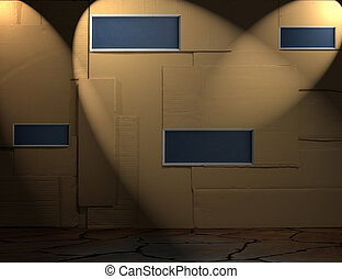 Background of paper wall with chalkboard texture