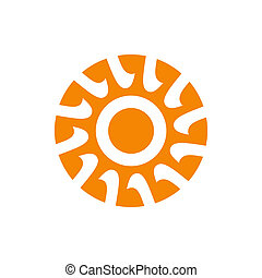 Abstract sun sign - Branding identity corporate logo...