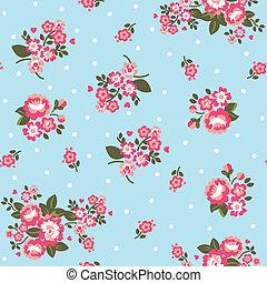 Polka Dot Roses Wallpaper