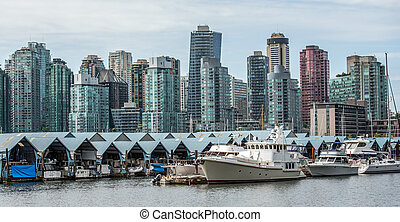 vancouver canada - waterfront and marina