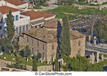 Fethiye mosque view, Athens Greece - Fethiye medieval mosque...