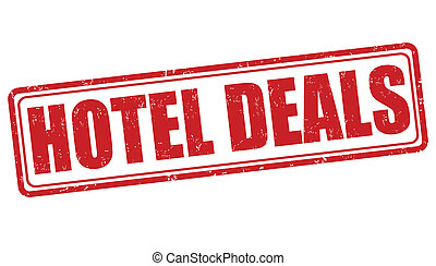 Hotel deals stamp - Hotel deals grunge rubber stamp on...