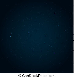 Night starry sky vector background
