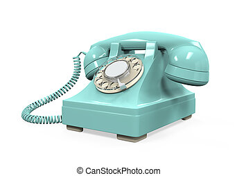 Vintage Telephone Isolated - Vintage Telephone isolated on...
