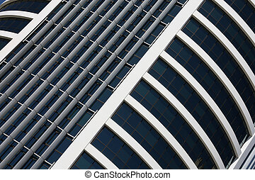 Skyscraper wall and windows - abstract photo of Brisbane,...
