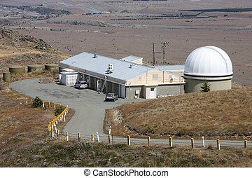 Astronomical observatory - Modern architecture - Mt John...