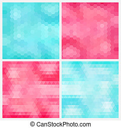 Aquamarine and pink backgrounds - Happy abstract aquamarine...