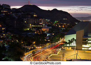 Los Cabos, Mexico evening view - Evening view from above on...
