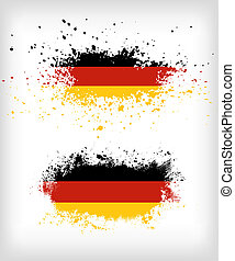 Grunge german ink splattered flag