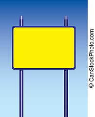 road sign - big yellow road sign two racks