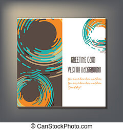 Beautiful abstract invitation card vector illustration art