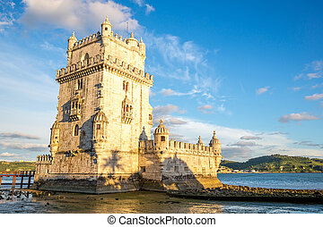Tower of Belem Lisbon - Tower of Belem (Torre de Belem),...