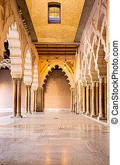 Zaragoza alcazar Corridor - Corridor of aljaferia alcazar of...