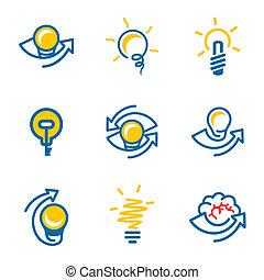 Idea icons set isolated on white background - Idea icon...