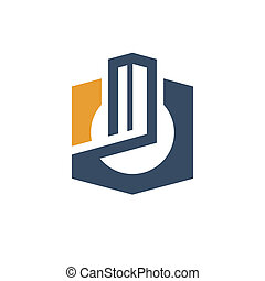 City concept sign - Branding identity corporate logo...