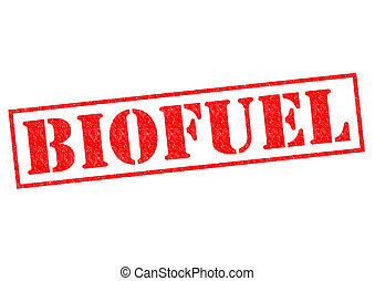 BIOFUEL red Rubber Stamp over a white background.