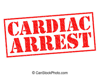 CARDIAC ARREST red Rubber Stamp over a white background