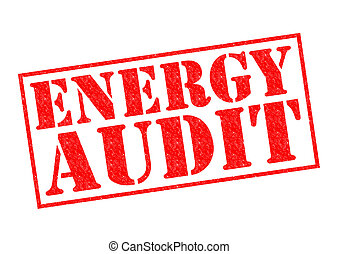 ENERGY AUDIT red Rubber Stamp over a white background.