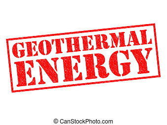 GEOTHERMAL ENERGY red Rubber Stamp over a white background.