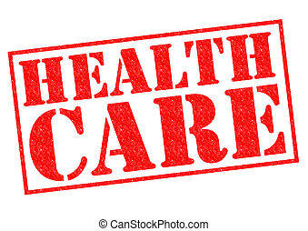 HEALTH CARE red Rubber Stamp over a white background.