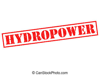 HYDROPOWER - HYDROPWER red Rubber Stamp over a white...