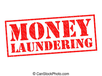 MONEY LAUNDERING red Rubber Stamp over a white background